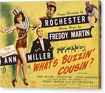 Whats Buzzin, Cousin, Ann Miller Canvas Print by Everett