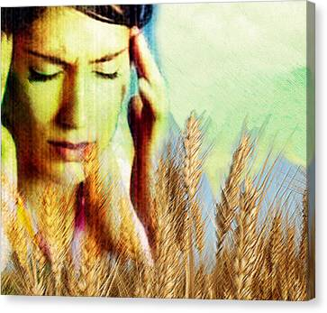 Wheat Allergy Canvas Print by Hannah Gal