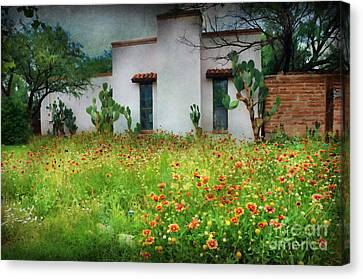 Canvas Print featuring the photograph When A House Is A Home by Barbara Manis