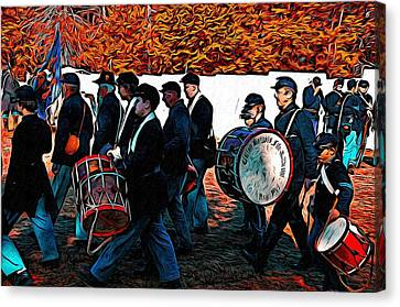 When Johnny Comes Marching Home Canvas Print by Bill Cannon