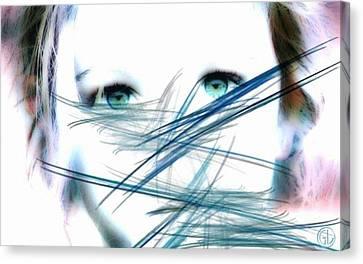 When She Looked Into The Mirror Canvas Print by Gun Legler