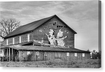 When The Farmer's Away Bw Canvas Print by JC Findley
