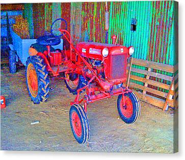 Canvas Print featuring the photograph When Tractors Were Tractors by Duncan Pearson
