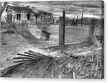 Where Does The Story End Monochrome Canvas Print by Bob Christopher