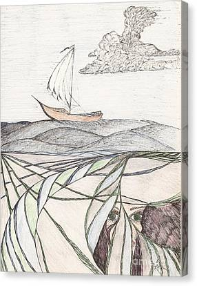Where The Deep Currents Run... - Sketch Canvas Print by Robert Meszaros