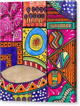 Where The Drum Maker Lives Canvas Print by Angela L Walker