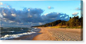 Where Water Meets Sand Canvas Print