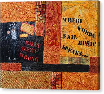 Where Words Fail Music Speaks Canvas Print by Victoria  Johns