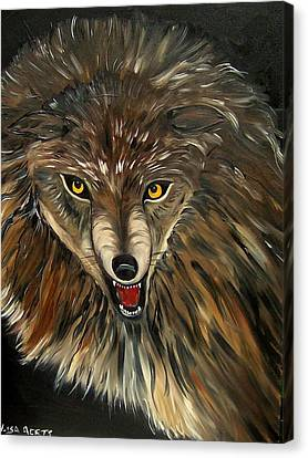 Wheres The Wolf Canvas Print by Lisa Aerts