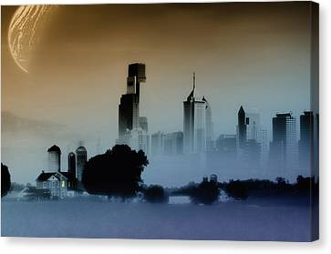 While The City Sleeps Canvas Print by Bill Cannon