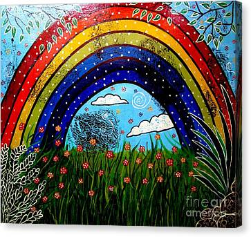 Whimsical Painting-whimsical Rainbow Canvas Print by Priyanka Rastogi