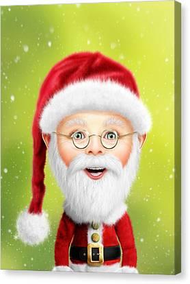 Whimsical Santa Claus Canvas Print by Bill Fleming