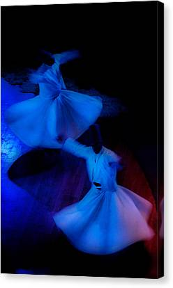 Whirling Dervish - 3 Canvas Print by Okan YILMAZ