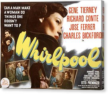 Whirlpool, Gene Tierney, 1949 Canvas Print by Everett