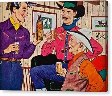 Whiskey Advertisement Canvas Print by Susan Leggett
