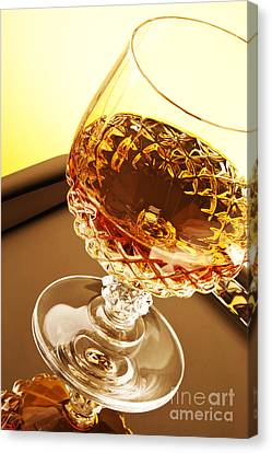 Booze Canvas Print - Whiskey In Glass by Blink Images
