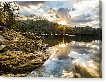 Canvas Print featuring the photograph Whiskeytown Lake Sunrise by Randy Wood