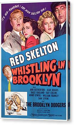 Whistling In Brooklyn, Red Skelton, Ann Canvas Print by Everett