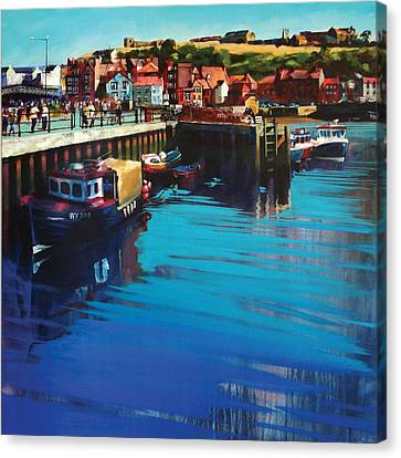 Whitby New Quay Canvas Print by Neil McBride