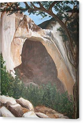 White Arch Canvas Print