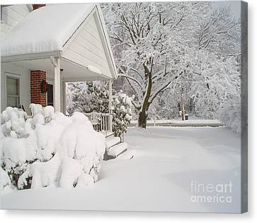 White Blanket Canvas Print by Donna Cavender