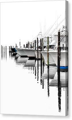 White Boats I Canvas Print by Dan Carmichael
