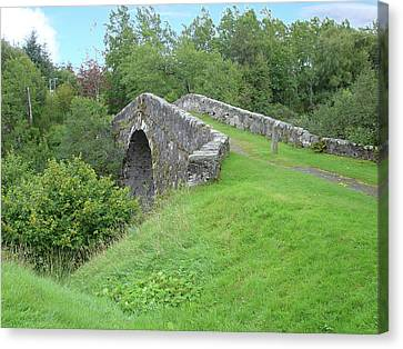 Canvas Print featuring the photograph White Bridge Scotland by Charles and Melisa Morrison