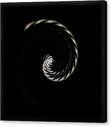 White Cherry Blossom Spiral 01 Canvas Print by Li   van Saathoff