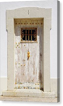 White Door Canvas Print by Carlos Caetano