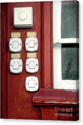 White Doorbells Canvas Print by Carlos Caetano