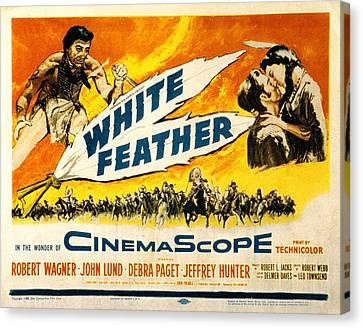 White Feather, Jeffrey Hunter, Robert Canvas Print by Everett