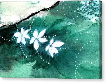 White Flowers Canvas Print by Anil Nene