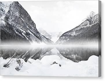 White Fog Louise Canvas Print by Andrea Hazel Ihlefeld