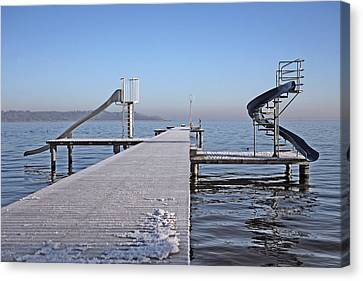 White Frost Slide Canvas Print by Ralf Kaiser