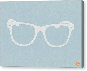 White Glasses Canvas Print