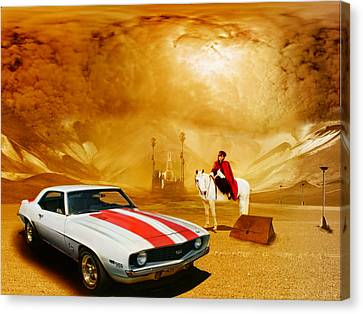 White Horses Canvas Print by Michael Cleere