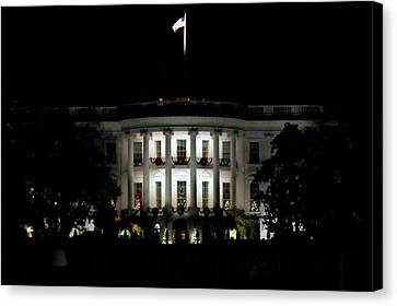 Canvas Print featuring the photograph White House In December by Suzanne Stout