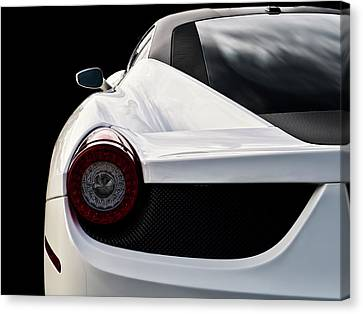 White Italia Canvas Print