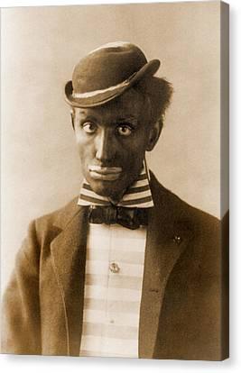 White Man In Blackface As Minstrel Canvas Print by Everett
