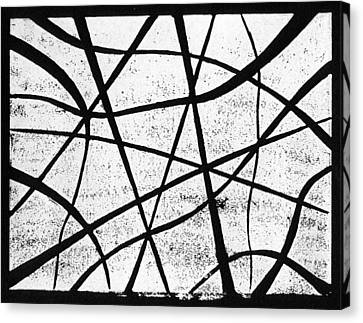 Lino Canvas Print - White On Black by Hakon Soreide