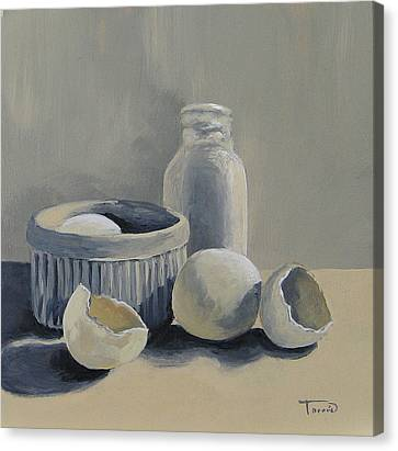 White On White Canvas Print by Torrie Smiley