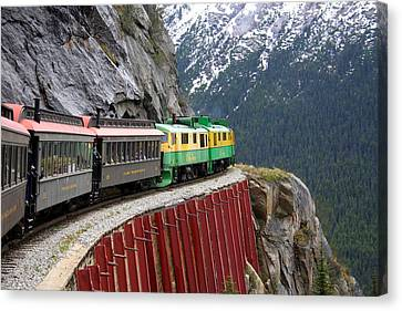 Canvas Print featuring the photograph White Pass Train Ride by Laurel Talabere