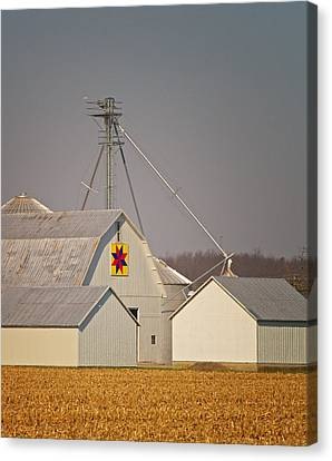 White Quilt Barn Canvas Print by Brian Mollenkopf