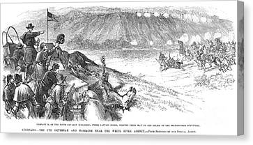 White River Attack, 1879 Canvas Print by Granger