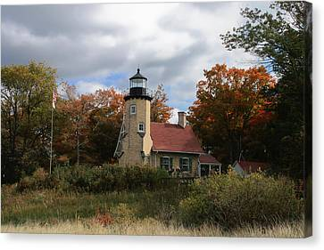 White River Lighthouse Canvas Print by Richard Gregurich