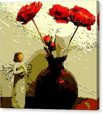 White Rose Canvas Print by David Alvarez
