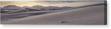 Canvas Print featuring the photograph White Sands Desert Panorama by Mike Irwin