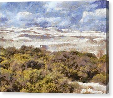 Canvas Print featuring the digital art white sands in Lancelin by Roberto Gagliardi