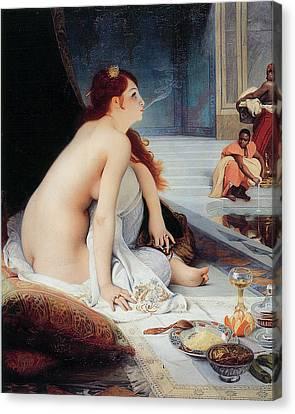 White Slave Canvas Print by Jean-Jules Antoine Lecomte Du Nouy