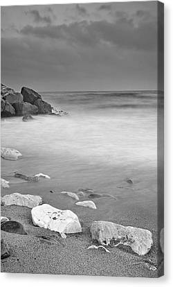 White Stone Canvas Print by Guido Montanes Castillo